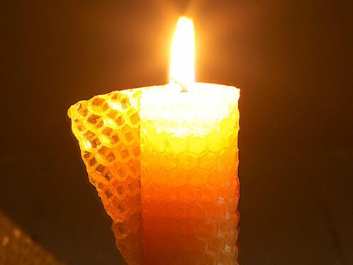 6 Feuilles de cire d'abeille pour création de bougies