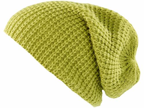 Bonnet tricoté XXL''Long Beanie'' - vert clair