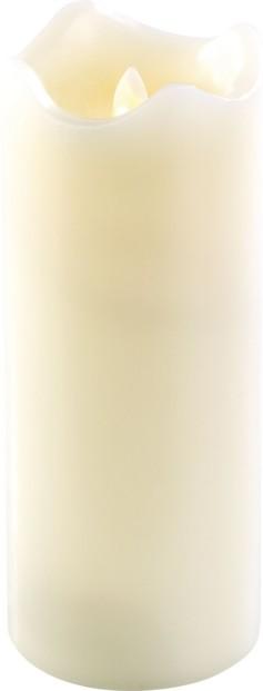 Bougie à LED scintillante, cire véritable - 22,5 cm
