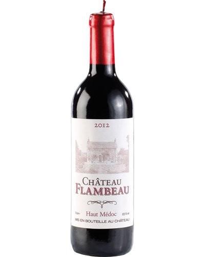Bougie décorative design bouteille de vin - Grand modèle