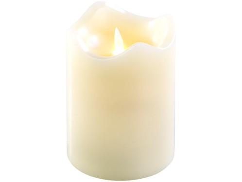 Bougie en cire véritable avec flamme LED mobile, 90 x 130 mm, taille M