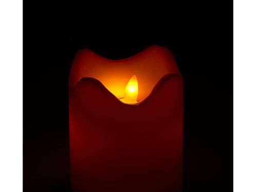 Bougie en cire à LED avec flamme vacillante – 12,5 CM