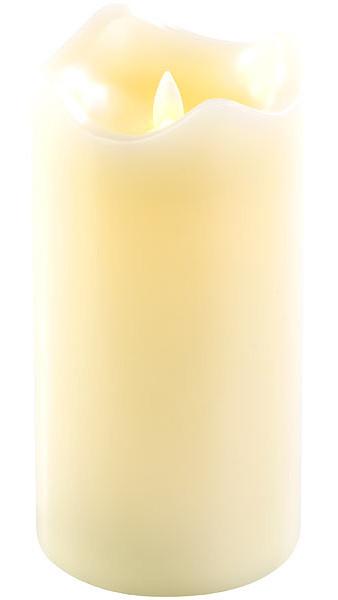 Bougie en cire véritable avec flamme LED mobile, 90 x 180 mm, taille L