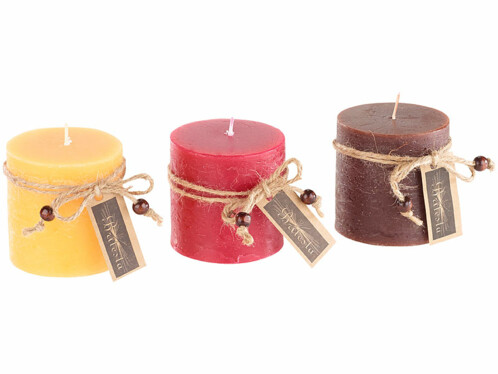 Bougies parfumées dans un coffret cadeau