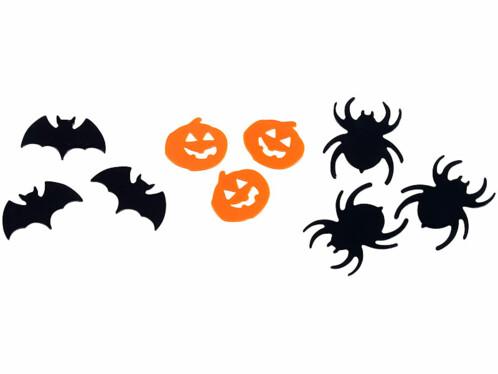 Confettis de table ''Halloween'' noirs et oranges