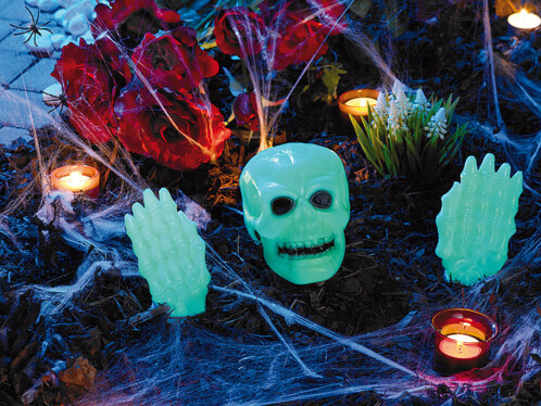 Décoration Halloween phosphorescente 3 pièces