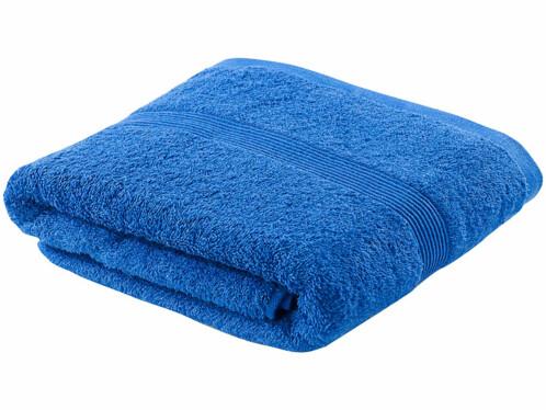 Drap de bain en coton 70 X 140 cm bleu
