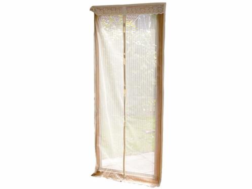 Moustiquaire pour porte avec fermeture magnétique - beige