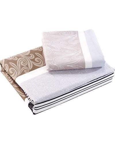 parure de lit en microfibre infroissable pas cher avec draps et taies. Black Bedroom Furniture Sets. Home Design Ideas