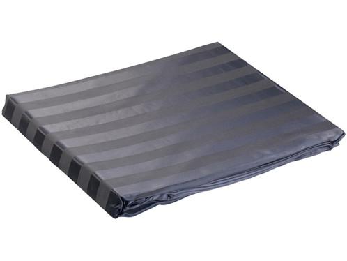 Parure de lit en satin 100 % soie - 200 X 200 cm - noire