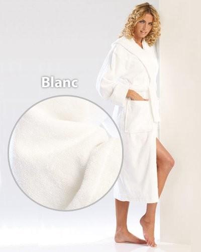 Peignoir confort blanc taille M