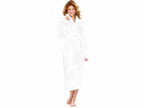 Peignoir confort blanc taille S
