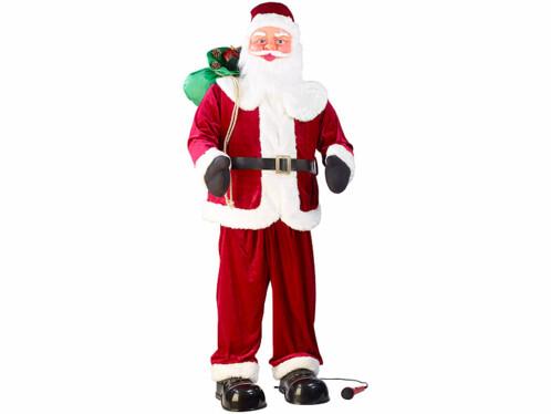 Père Noël géant avec fonction karaoké -150 cm