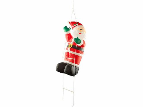 Père Noël sur échelle autogonflant 120 cm
