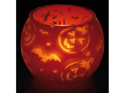 Photophore double paroi ''Halloween''