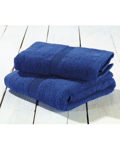 Serviettes-éponges en coton - bleu
