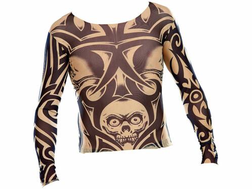 T-Shirts Tattoo en stretch - Tête de mort