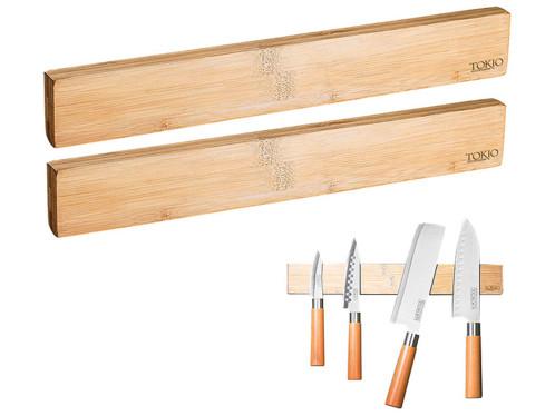 Lot de 2 barres aimentées en bois de bambou par Rosenstein & Söhne.