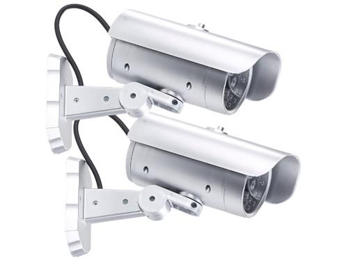 2 caméras de surveillance factices avec détecteur PIR et signal LED