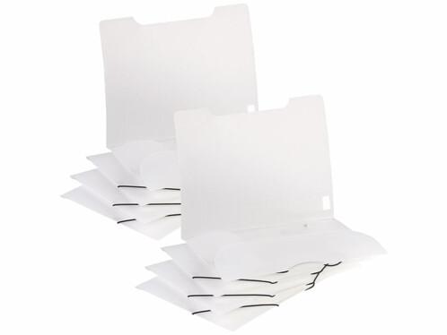 Lot de 2 chemises plastiques transparentes General Office pour transporter des documents.