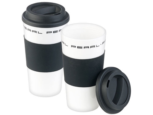 "2 gobelets ""Coffee To Go"" à double-paroi avec couvercle - 475 ml"