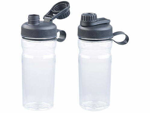 2 gourdes sport de 700 ml - Transparent