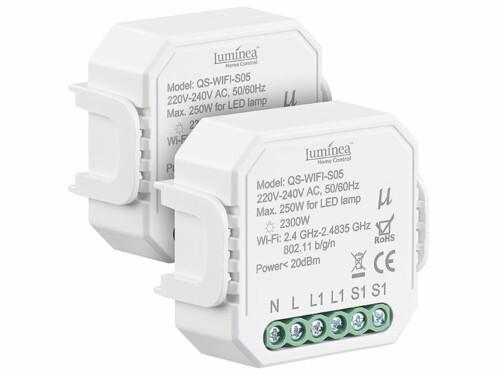 Offre comprennant 2 interrupteurs connectés Luminea.