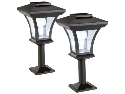 2 lampadaires de jardin solaires à LED sur pied