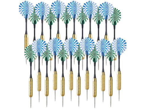 24 fléchettes en laiton avec pointes en acier