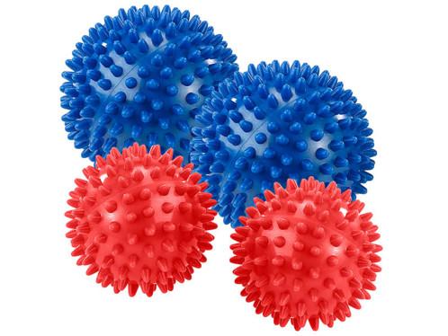 Lot de 4 boules de massage avec picots par Newgen Medicals.