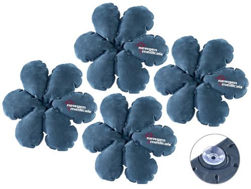 Lot de 4 coussins gonflables multi-usage en forme de fleur par NewGen Medicals.