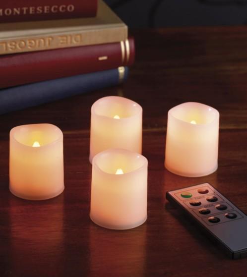 prix 4 mini bougies led t l command es moins cher. Black Bedroom Furniture Sets. Home Design Ideas