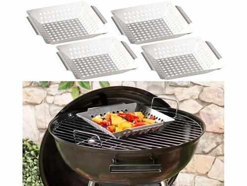 4 paniers à légumes pour barbecue
