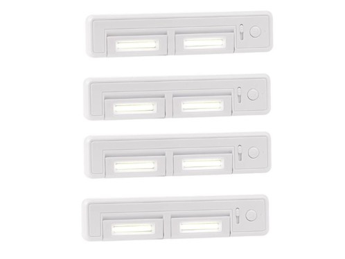 Lot de 4 réglettes LED COB LCL-28.rc par Lunartec.