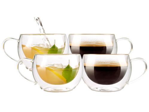 4 tasses double paroi - Café long ou thé