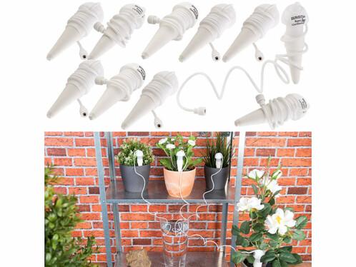 10 doseurs d'irrigation pour pots de fleurs, avec pointe en argile et tuyau