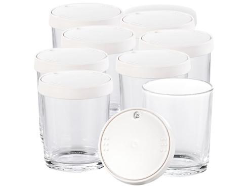 Lot de 8 pots en verre individuels pour yaourtière électrique Pearl.