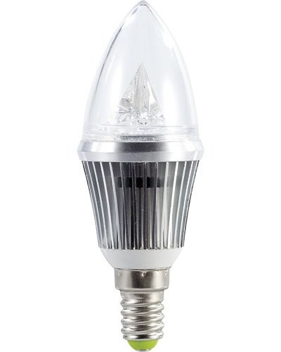 Ampoule bougie à LED SMD - E14 - 4W - blanc chaud