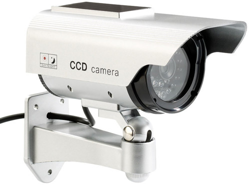 Caméra de surveillance solaire factice à LED