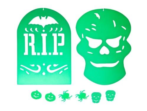 Décorations d'Halloween phosphorescentes par Infactory.