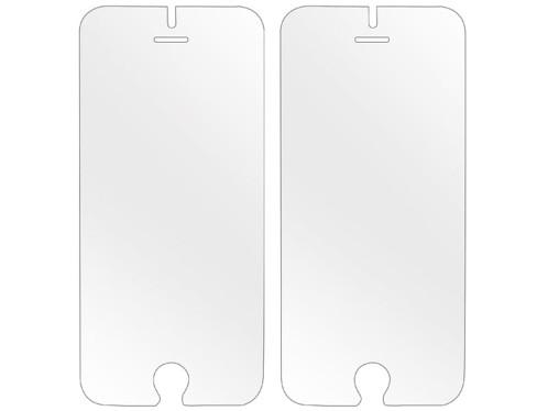 2 façades de protection en verre trempé 9H pour iPhone 6