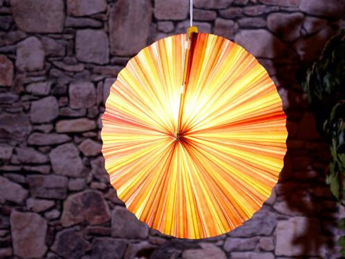 Lampion en papier rond