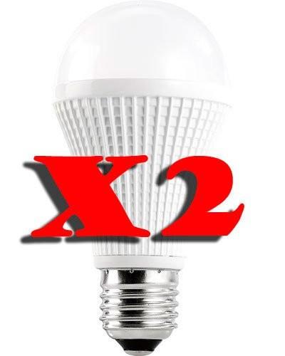 Lot de 2 ampoules LED High-Power 9 W E27 blanc froid