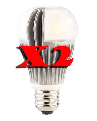 Lot de 2 ampoules LED Premium 12 W E27 blanc froid