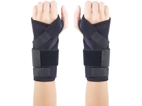 Orthèses de poignet gauche et droit.