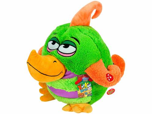 Peluche sonore Kookoo Birds – vert/orange