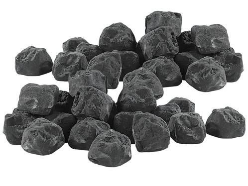 40 pierres décoratives pour cheminée au bioéthanol - Noir