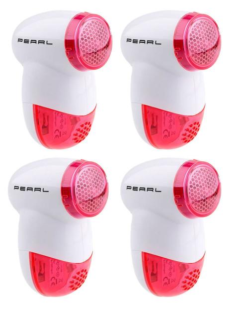 4 rasoirs anti-peluches électriques compacts à piles