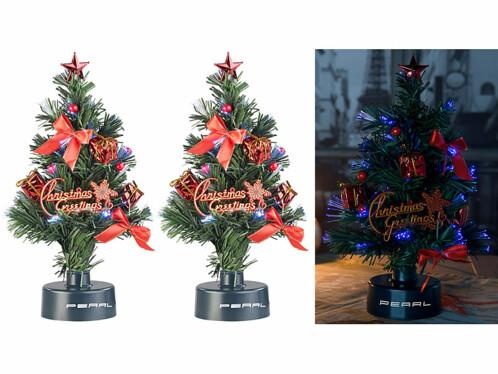 2 sapins de Noël USB lumineux