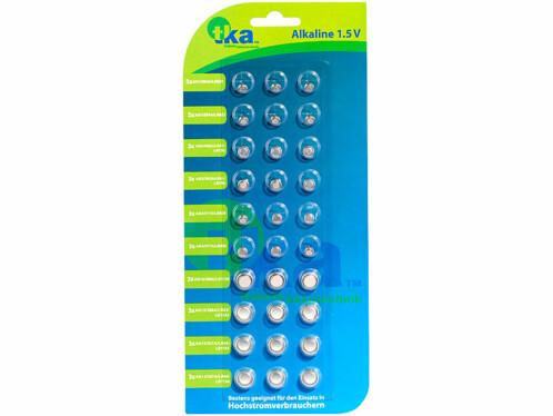Un pack avec 30 piles bouton TKA de différentes sortes.